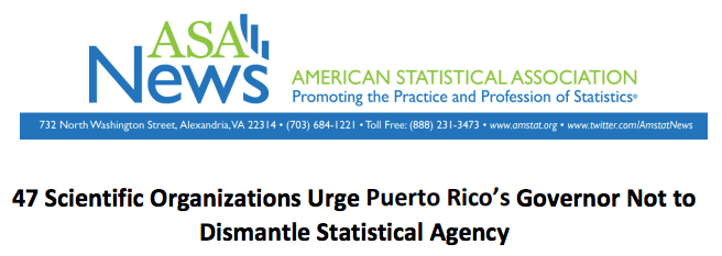 Future of Research joins other scientific organizations urging Puerto Rico's Governor Not to Dismantle Statistical Agency
