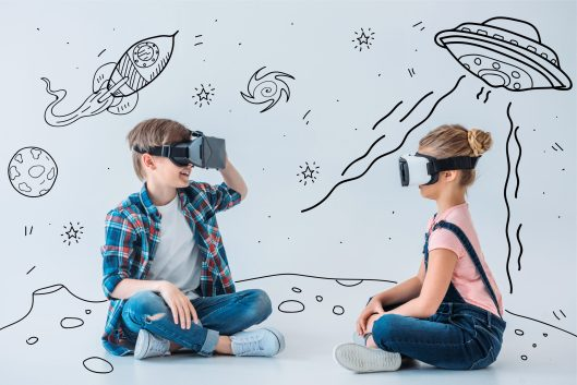 Children Playing VR