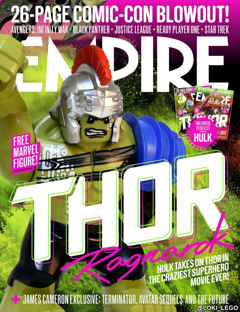 Thor Ragnarok Empire Cover Recreated in LEGO