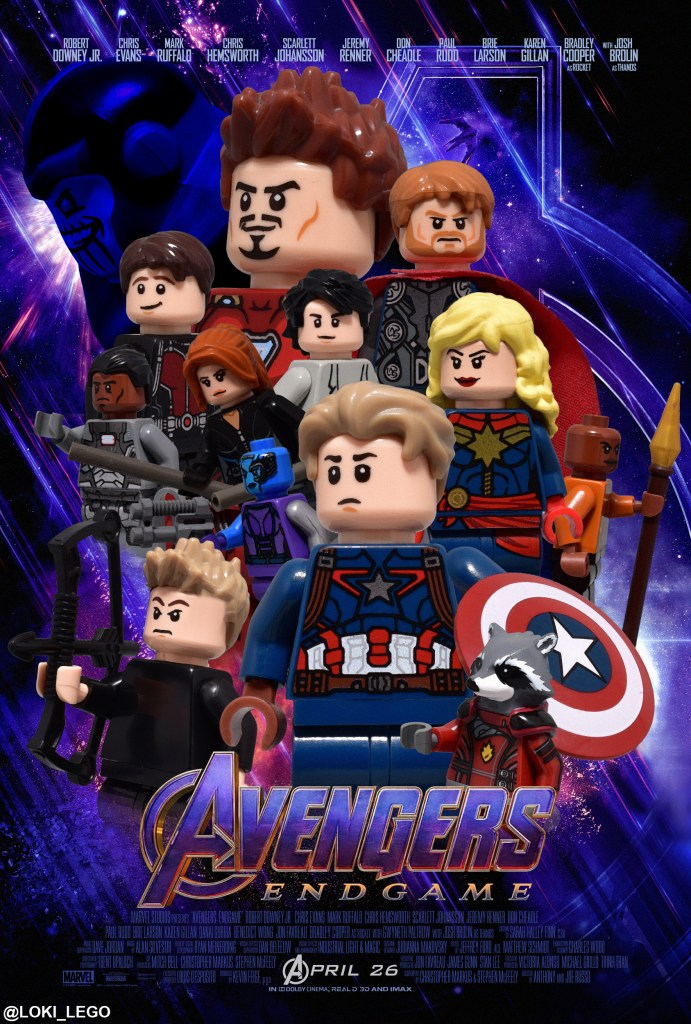 Avengers Endgame LEGO Poster