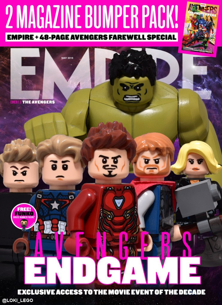 LEGO Avengers Endgame Empire Magazine Covers