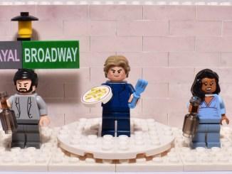 custom lego betrayal on Broadway set