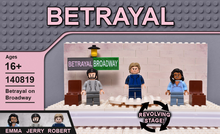custom lego betrayal on Broadway Lego set
