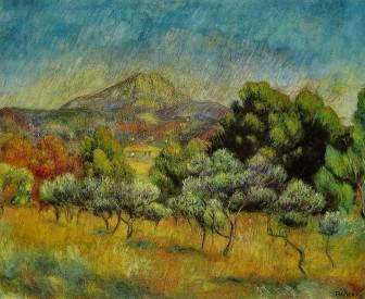 Pierre-Auguste Renoir: La Montagne Sainte-Victoire, 1889