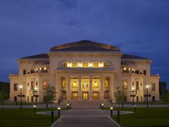 The Palladium in Carmel, Indiana, designed by David Schwarz. <i>Image credit:</i> Driehaus Prize.