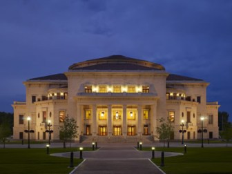 The Palladium in Carmel, Indiana, designed by David Schwarz. <i>Image credit:</i> Driehaus Prize.