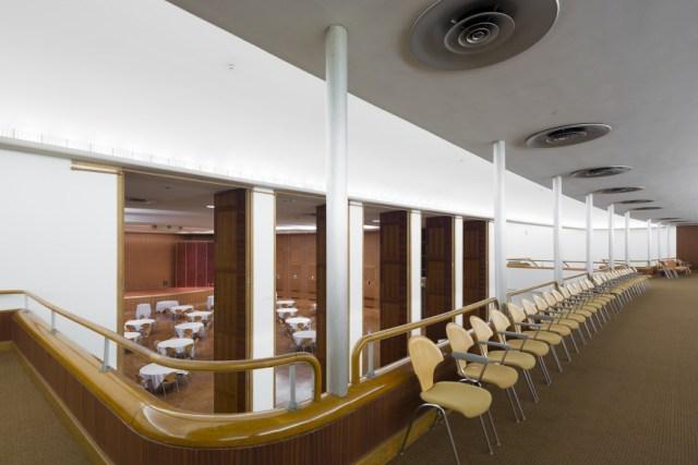 View into chamber music hall from upper lobby. <i>Image credit:</i> Bilyana Dimitrova.