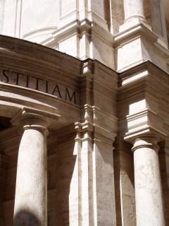 Pietro da Cortona: Santa Maria della Pace (corner detail), Rome, 1667