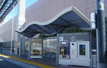 Las Vegas BRT waiting shelter.