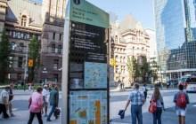 Toronto wayfinding signage totem.
