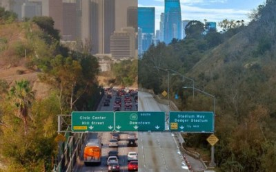 traffic before and after