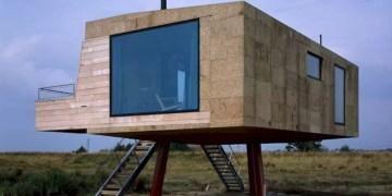 A Cork Clad Cabin Above A Tidal Salt Marsh 1
