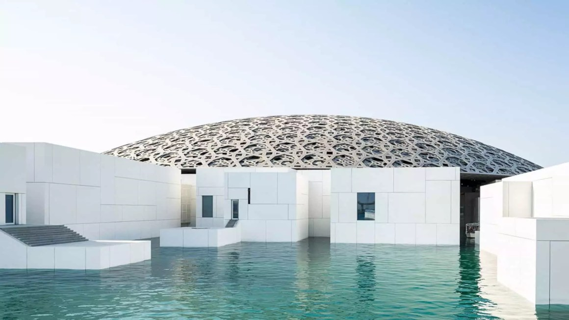 Louvre abu dhabi floating dome futurist architecture for Architectural design companies in abu dhabi
