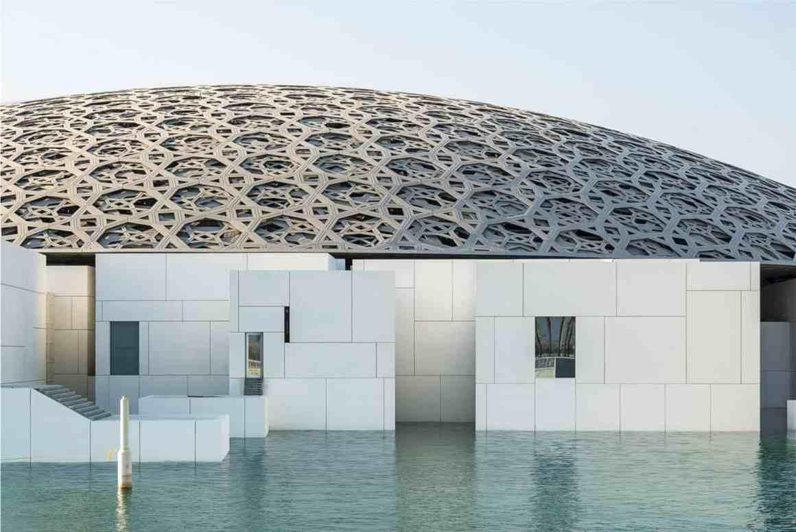 Louvre Abu Dhabi Floating Dome Futurist Architecture