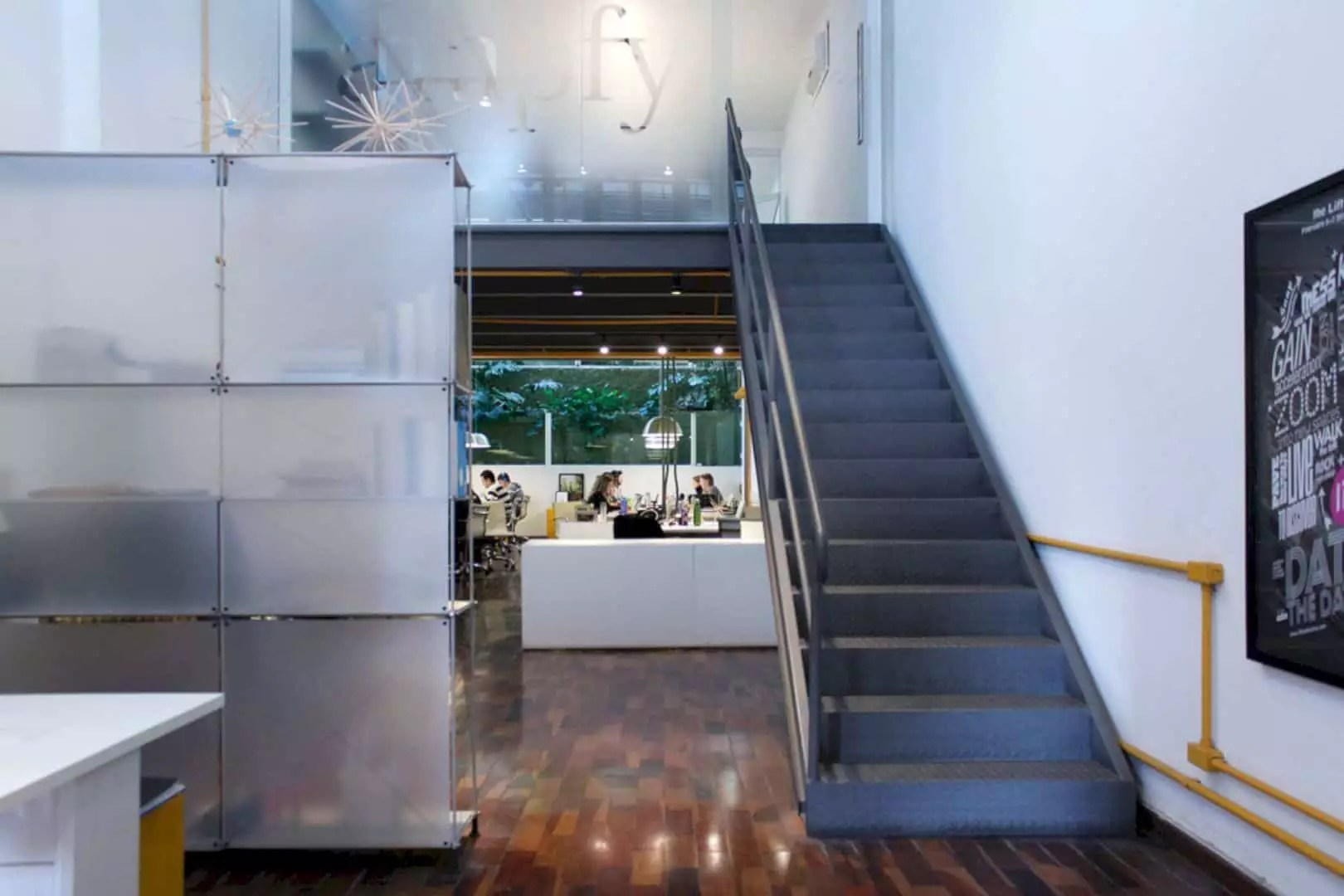 Ampfy Agency: Modern Interior of Corporate Office with Interesting Lighting