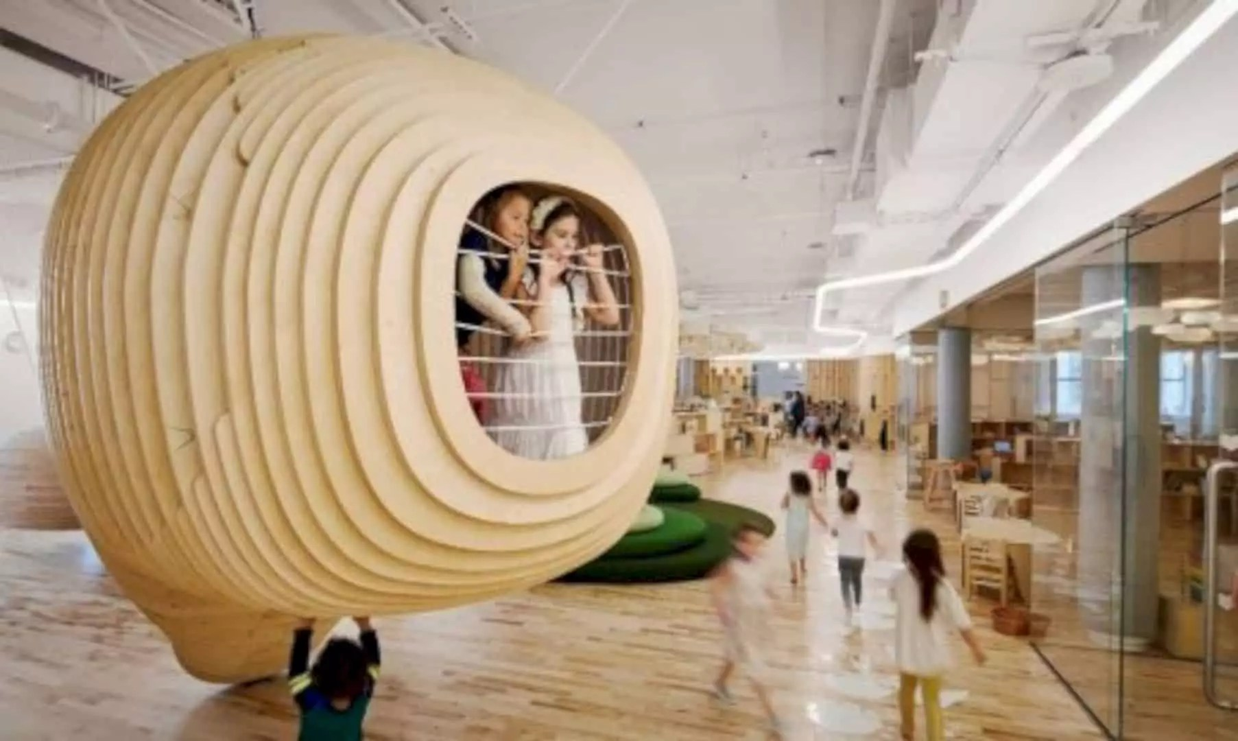 WeGrow School: Modern Interior of New Educational Facility with A Learning Landscape