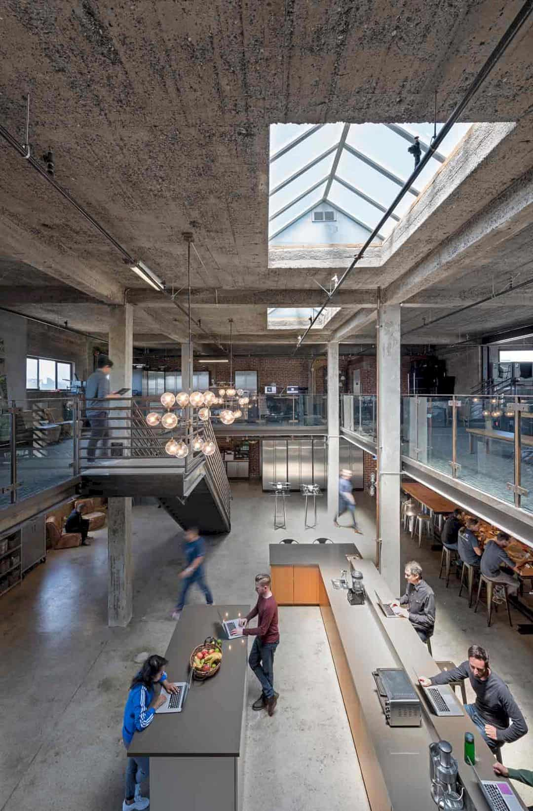 Skycatch: Industrial Interior of Renovated Penthouse for Drone Imaging Company