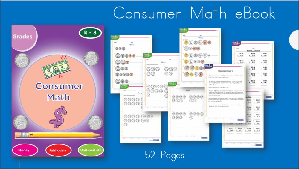 medium resolution of Consumer Math \u0026 Money Workbook