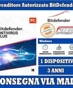 bitdefender antivirus 1 computer 3 anni