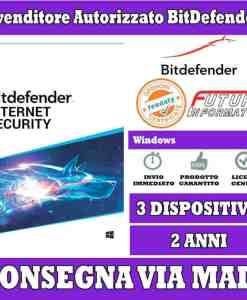 Bitdefender internet security 3 pc 2 anni
