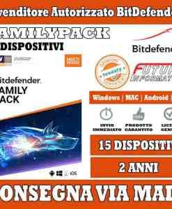 Bitdefender family pack 2 anni