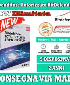 Total Security & VPN Premium 5 device 2 anni