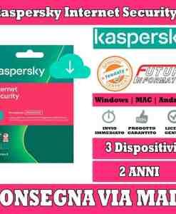 Kaspersky Internet Security 3 computer 2 Anni