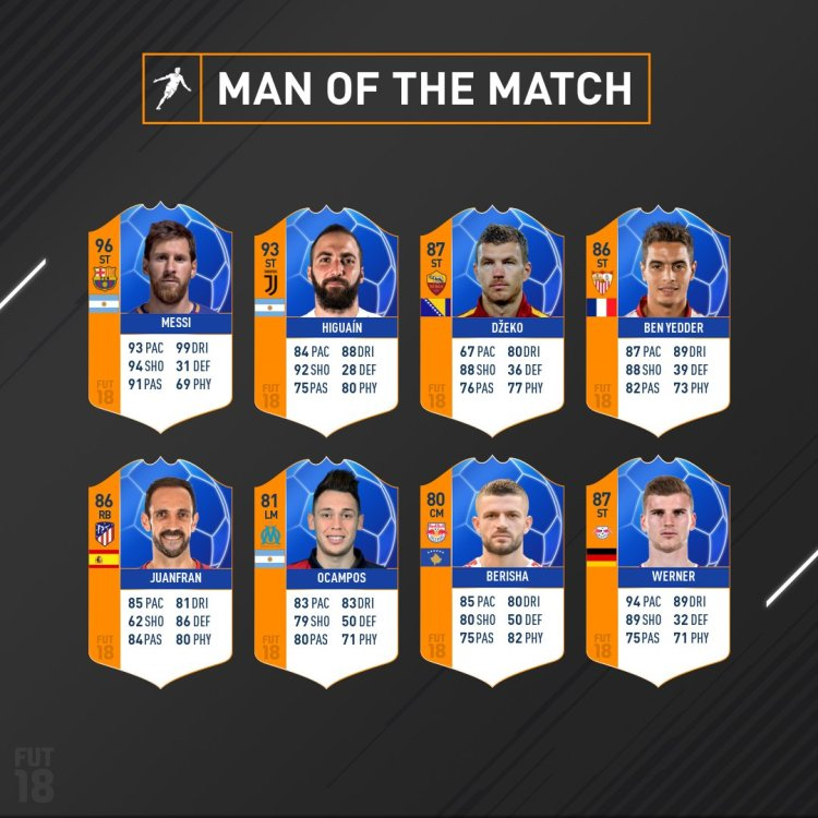 fut 18 man of the match 17 mars