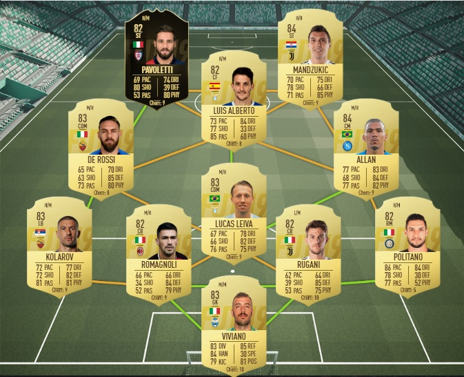 FUT 19 - Solution DCE Clarence Seedorf - Equipe notee a 83