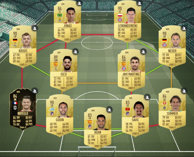 FUT 19 - Solution DCE Clarence Seedorf - Equipe notee a 88