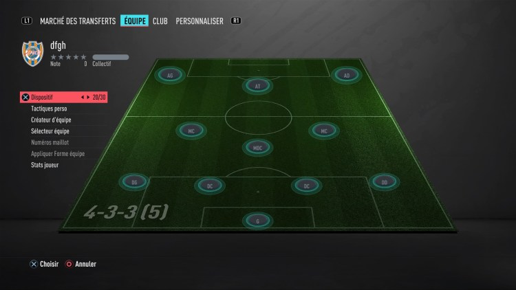 fut 20 guide des formations 4-3-3-5