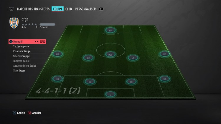 fut 20 guide des formations 4-4-1-1-2