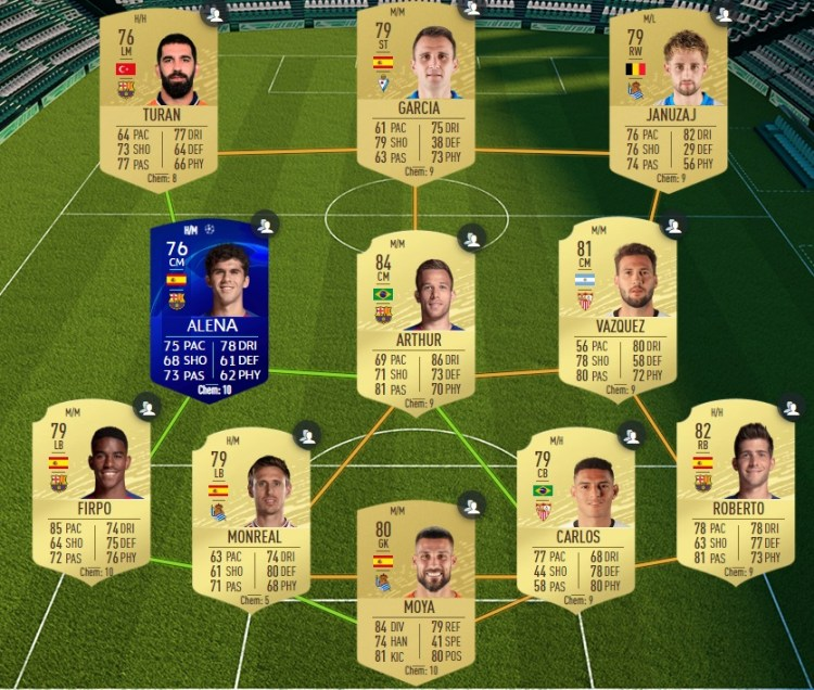fut 20 solution dce laliga barcelone