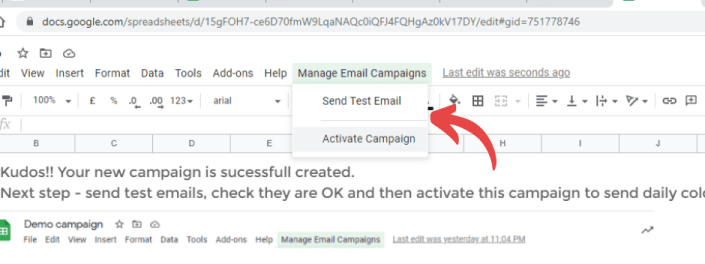 activate workflow to automate cold email campaign