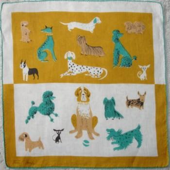 Tammis Keefe vintage 1950s handkerchief.