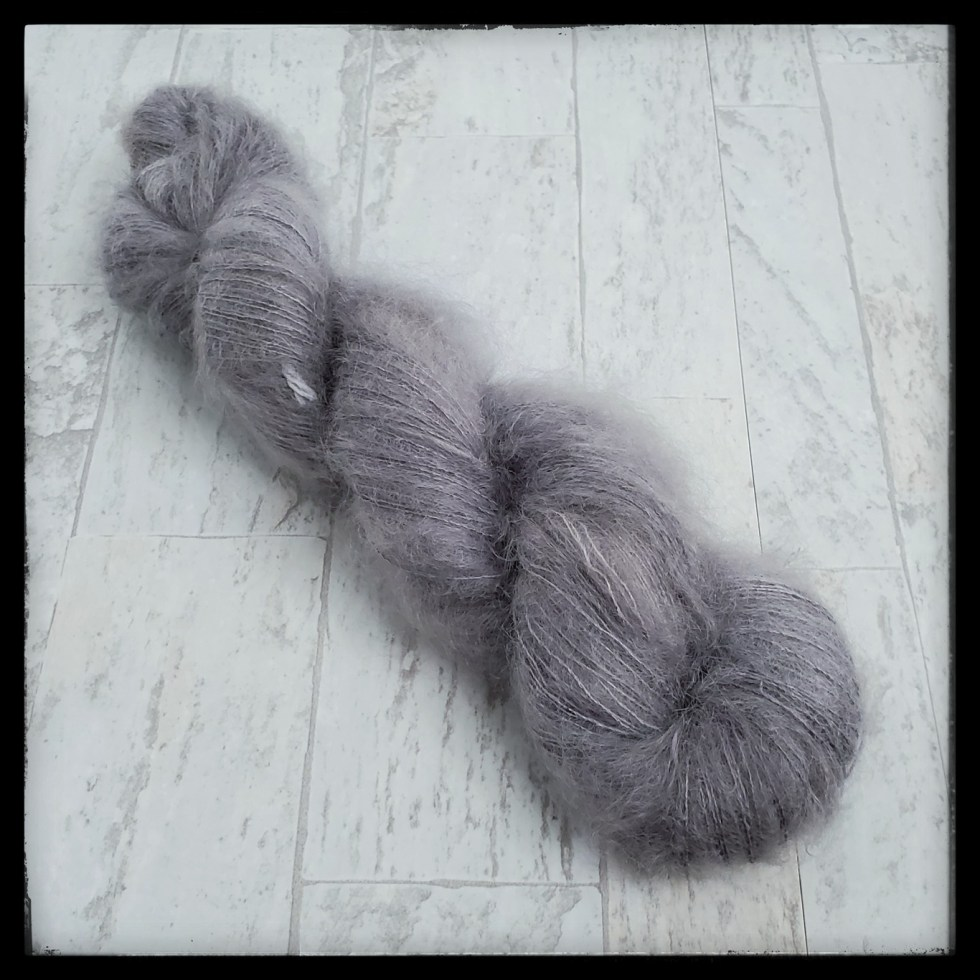 Mohair shown in the color A Cloudy day