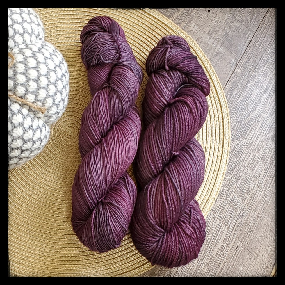 smoky mauve skeins