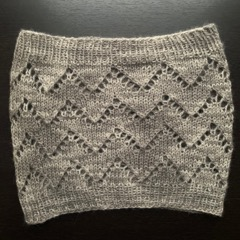 The V-Kind Cowl by tester @springcreekknits