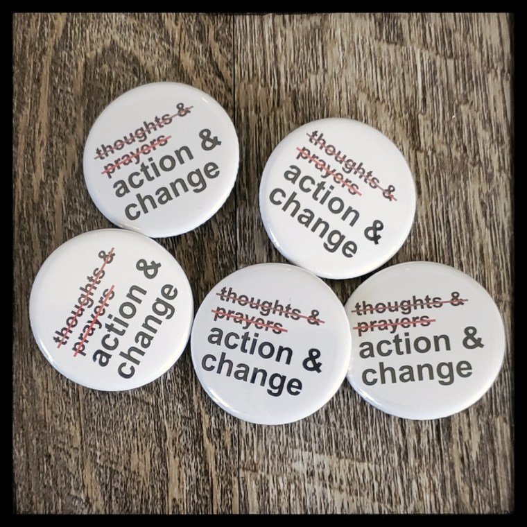 Action and change buttons