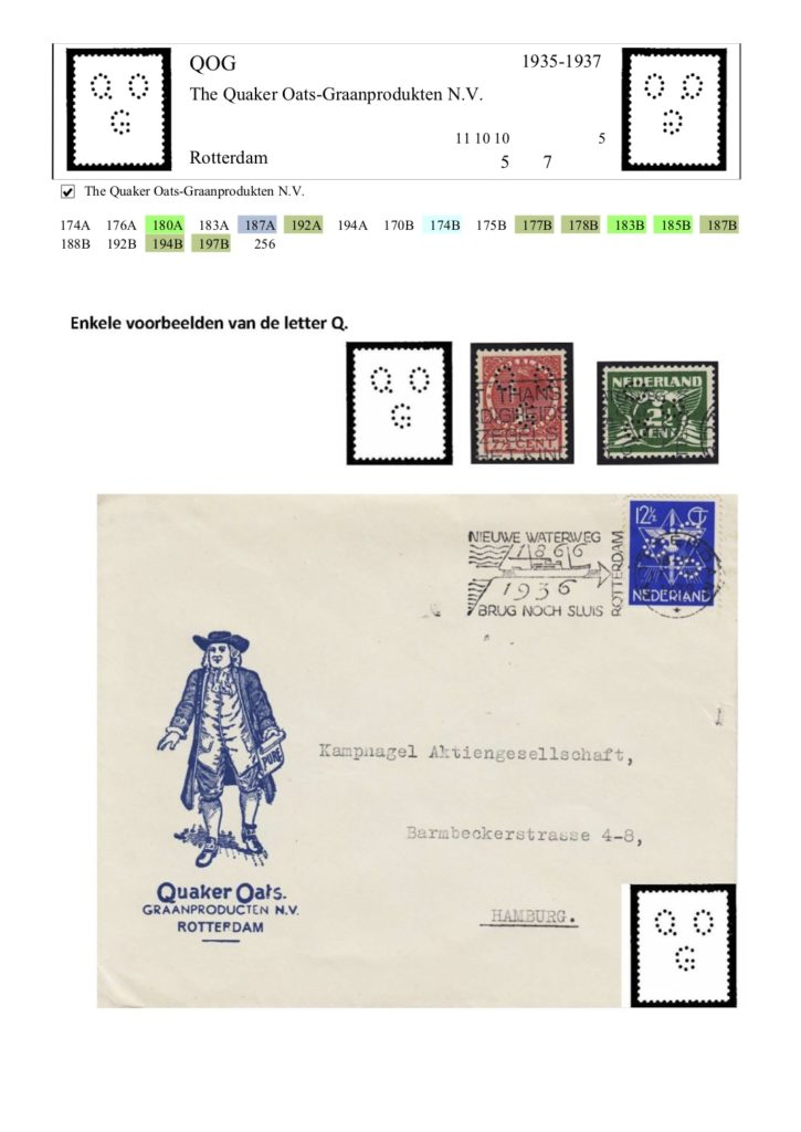Catalogus van de perfins van Nederland  & OR