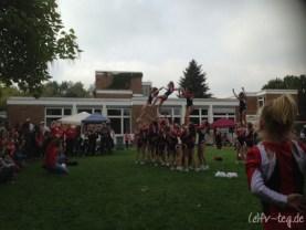 Die Cheerleader vom TSV Wittenau machten uns mit ihrer waghalsigen Vorstellung sprachlos!