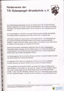 FV TEG Festschrift 40 Jahre TEG 29 WZ