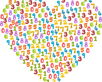 Pixabay coloured numbers