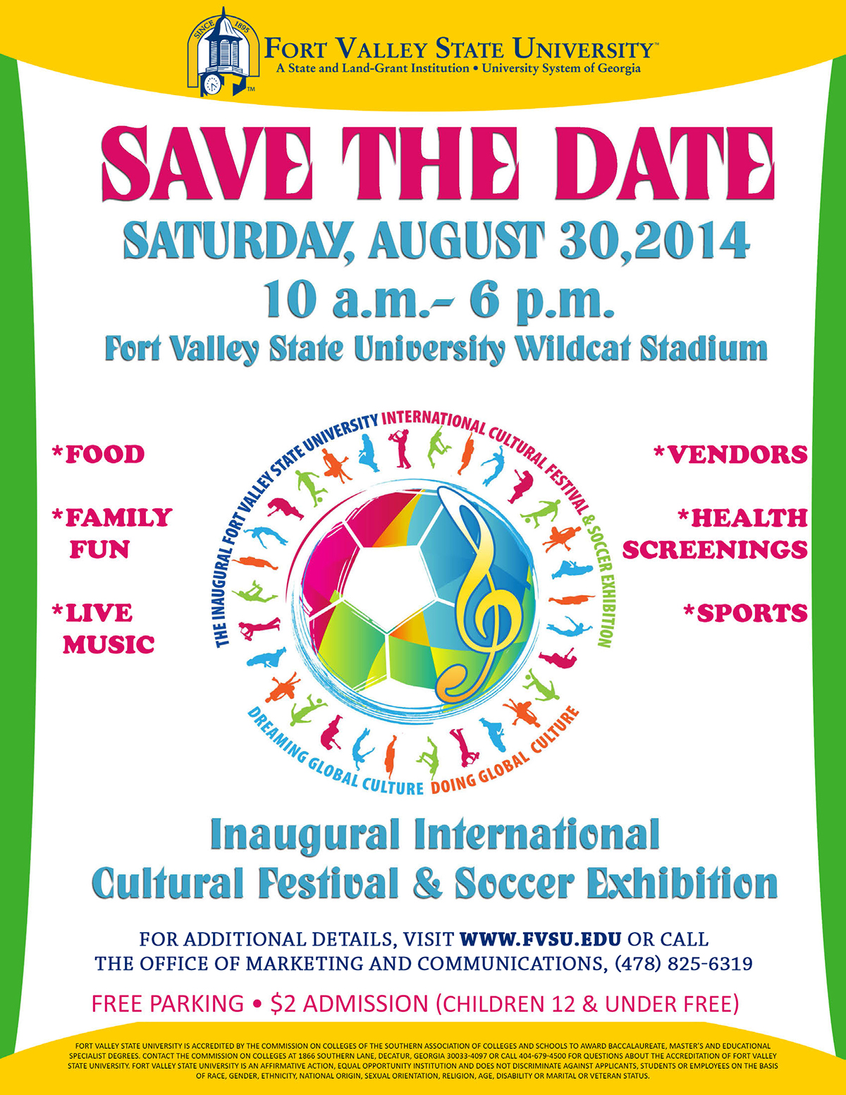 FVSU to host first International Cultural Festival and Soccer Exhibition