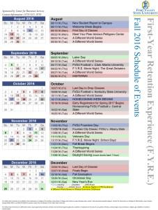 First Year Calendar