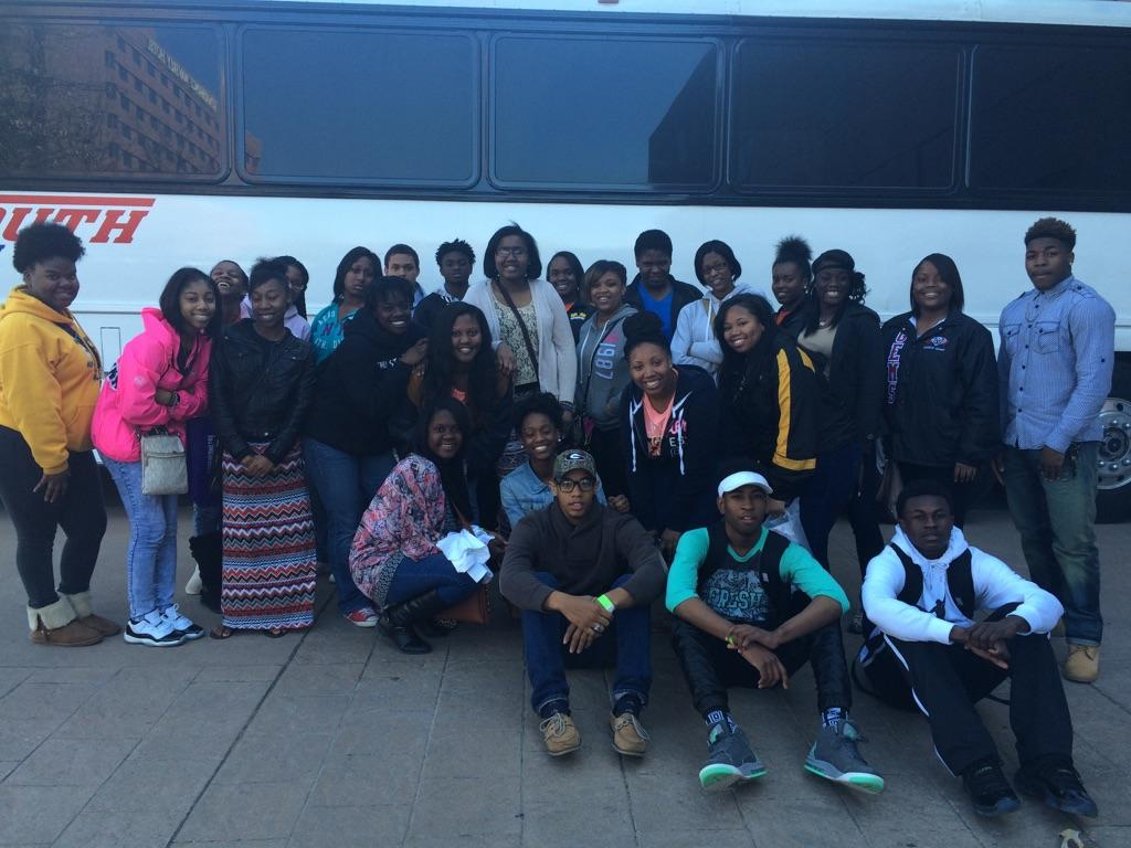 FVSU UPWARD BOUND students in front of bus