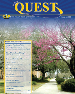 The Quest Magazine cover spring 2008