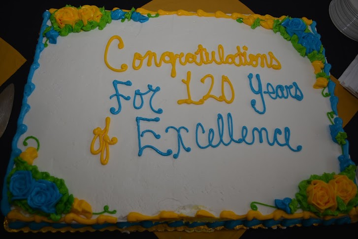 cake at 120th anniversary
