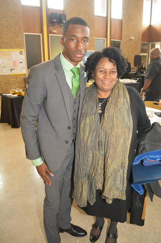 Elijah Porter and Dr. Andrew Lee at the 120th Anniversary celebration.