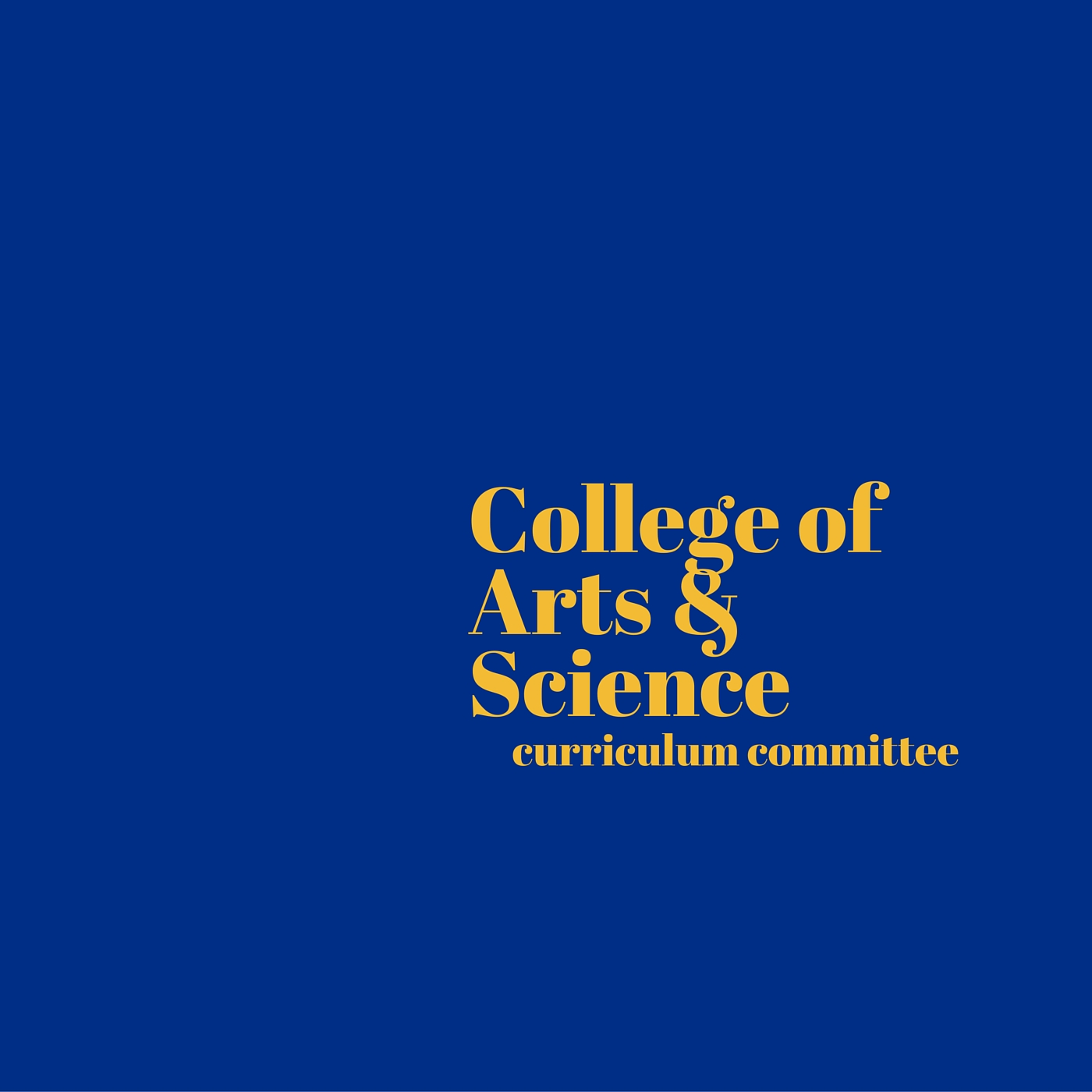 CAS Curriculum Committee